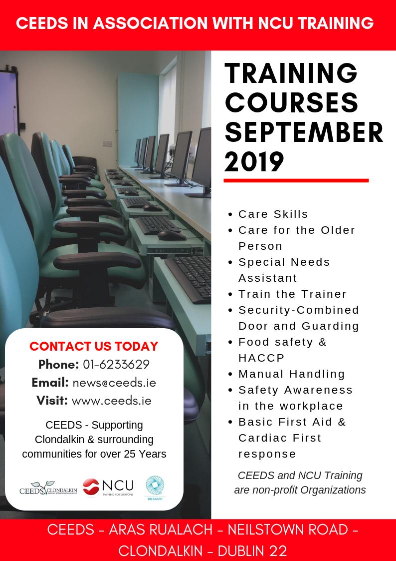 SNA training Security Courses Care Courses Dublin