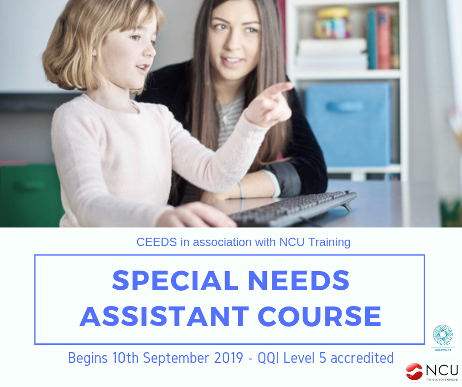 Special Needs Assistant Course - Clondalkin Dublin September 2019