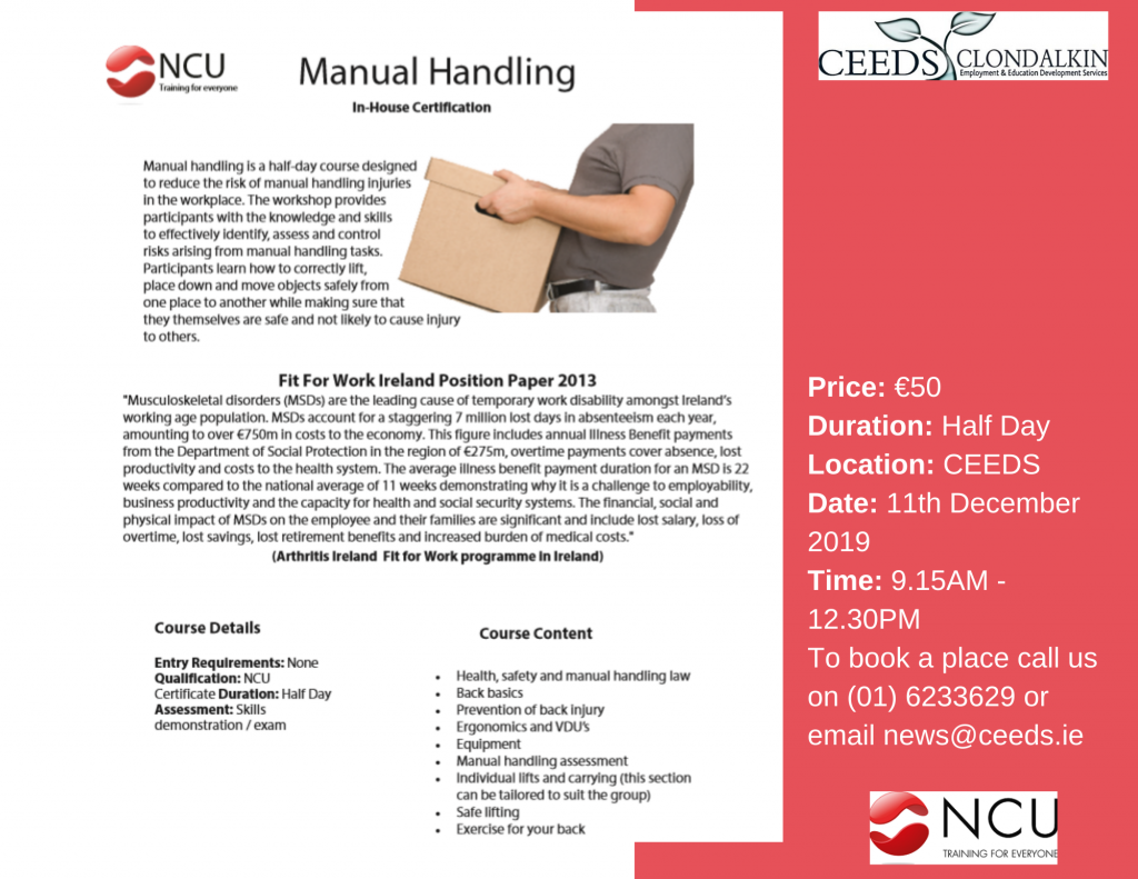 Manual Handling Course Dublin