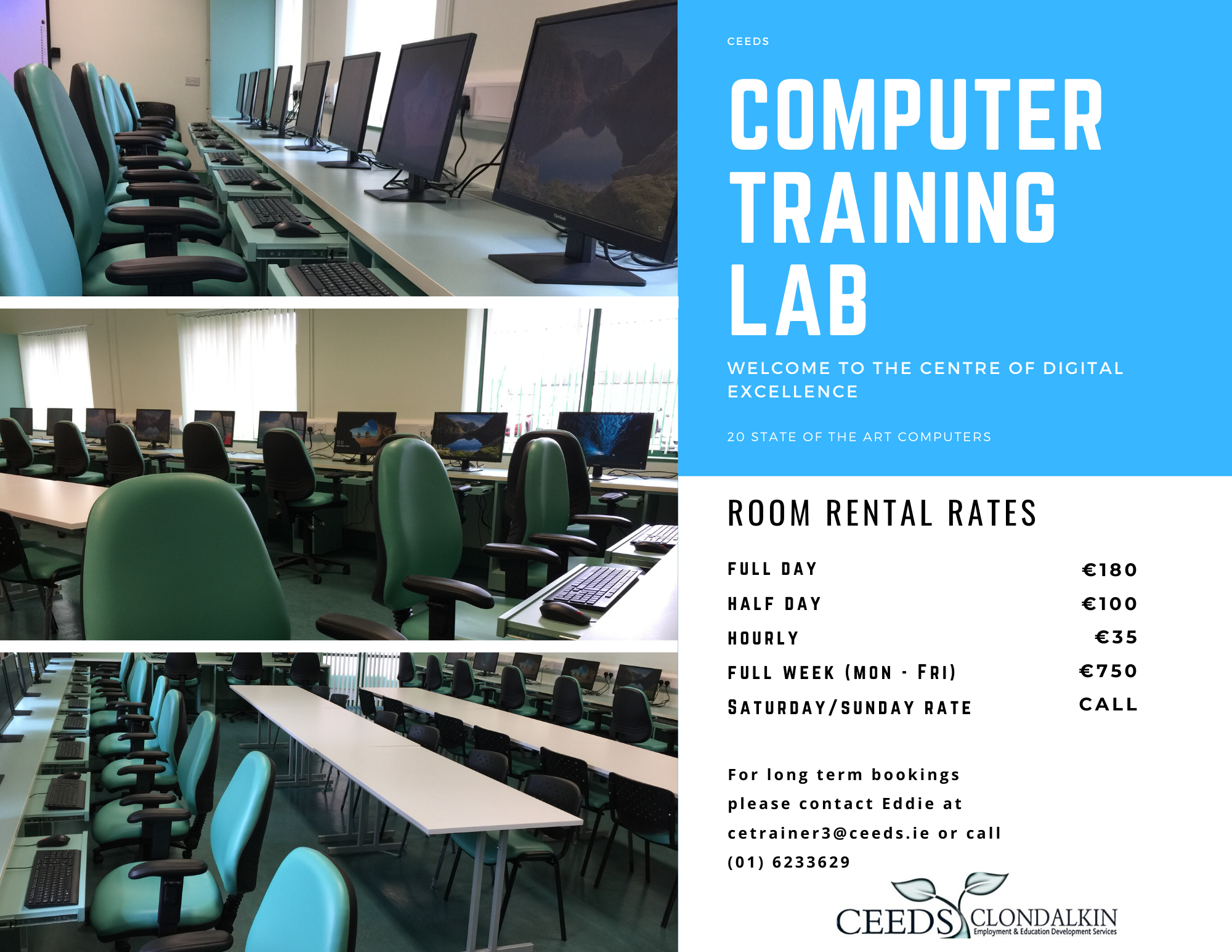 Computer training room rent Dublin